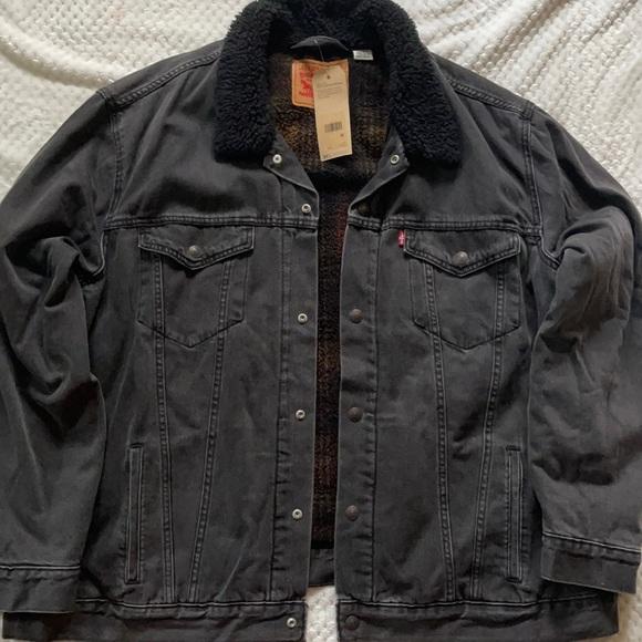 NWT Levi's Fleece Lined Demin Jacket